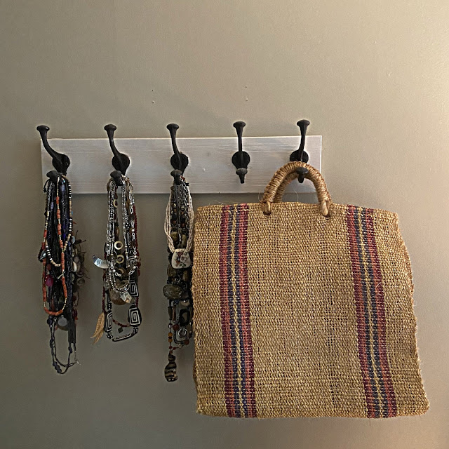 hanging coat rack used for jewellry