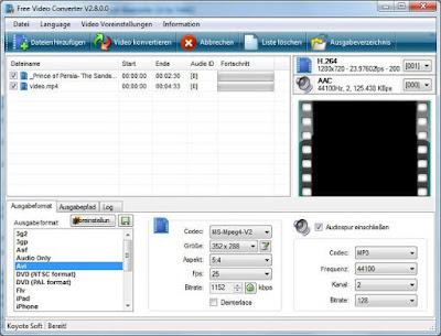 تحميل برنامج Koyote Free Video Converter