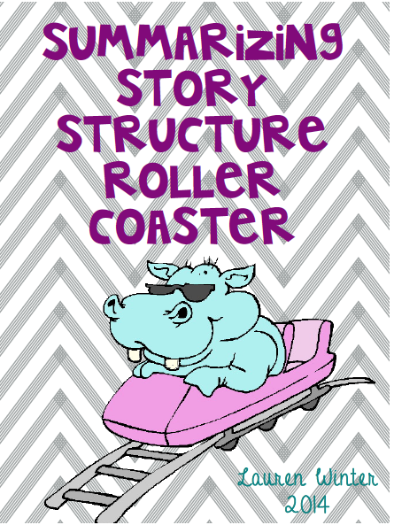 http://www.teacherspayteachers.com/Product/Summarizing-Story-Structure-Roller-Coaster-1221573