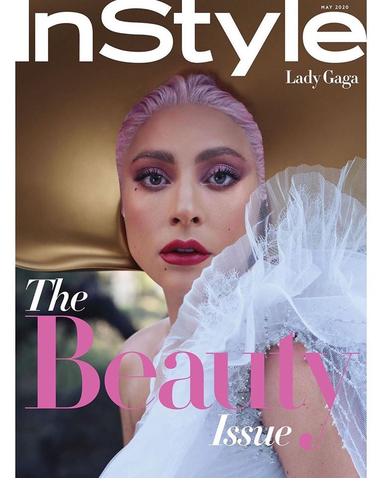 Lady Gaga features on the InStyle US May 2020 cover