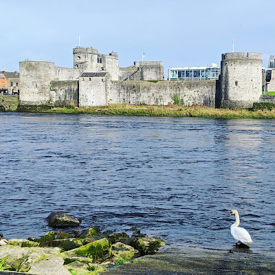 Limerick Points of Interest: King John's Castle viewed across the River Shannon