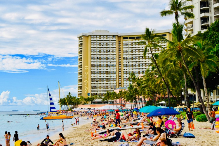 Waikiki, Hawaii, one of the world's most famous beaches | Ms. Toody Goo Shoes