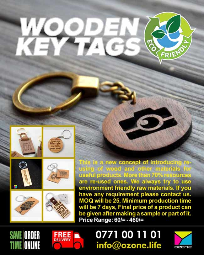 Eco Friendly Wooden Key Tags by Ozone Branding