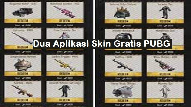 Aplikasi Skin Gratis PUBG