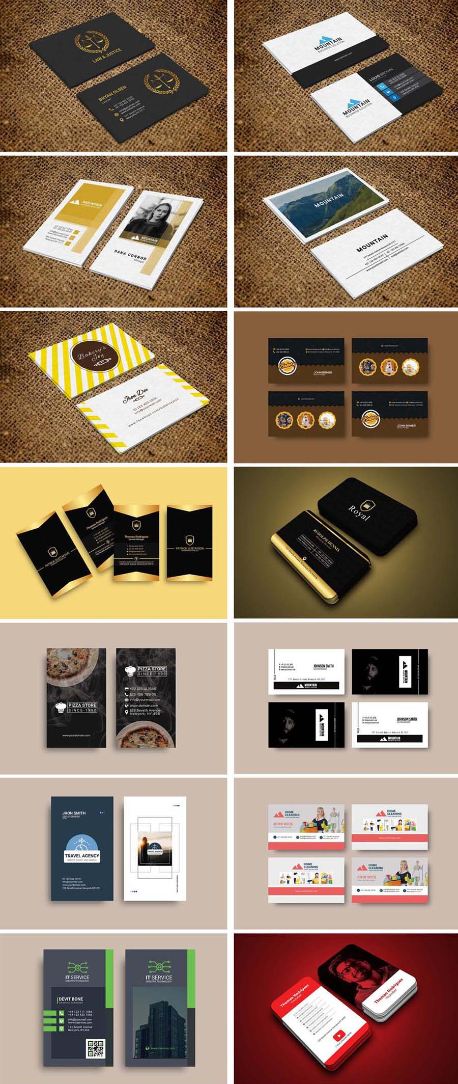 50 Business Card Bundle
