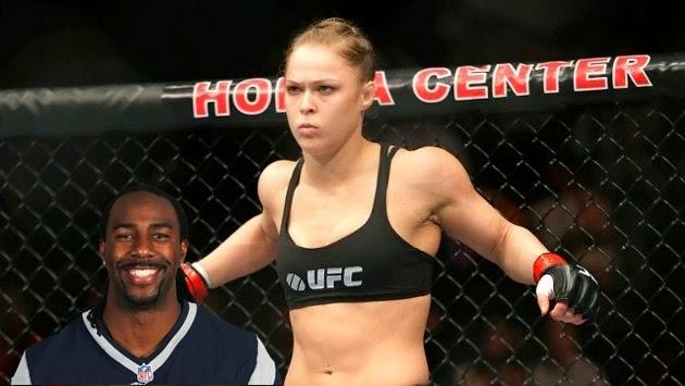Ex-jogador da NFL diz que sabe que pode esmagar Ronda Rousey