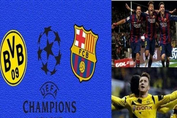 تعادل محبط بين برشلونة ودورتموند  في الجولة الاولى من مباريات دوري أبطال أوروبا