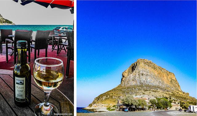 Vinho grego Malvasia, típico da Vila de Monemvasia, no Peloponeso