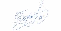 подпись в блоге
