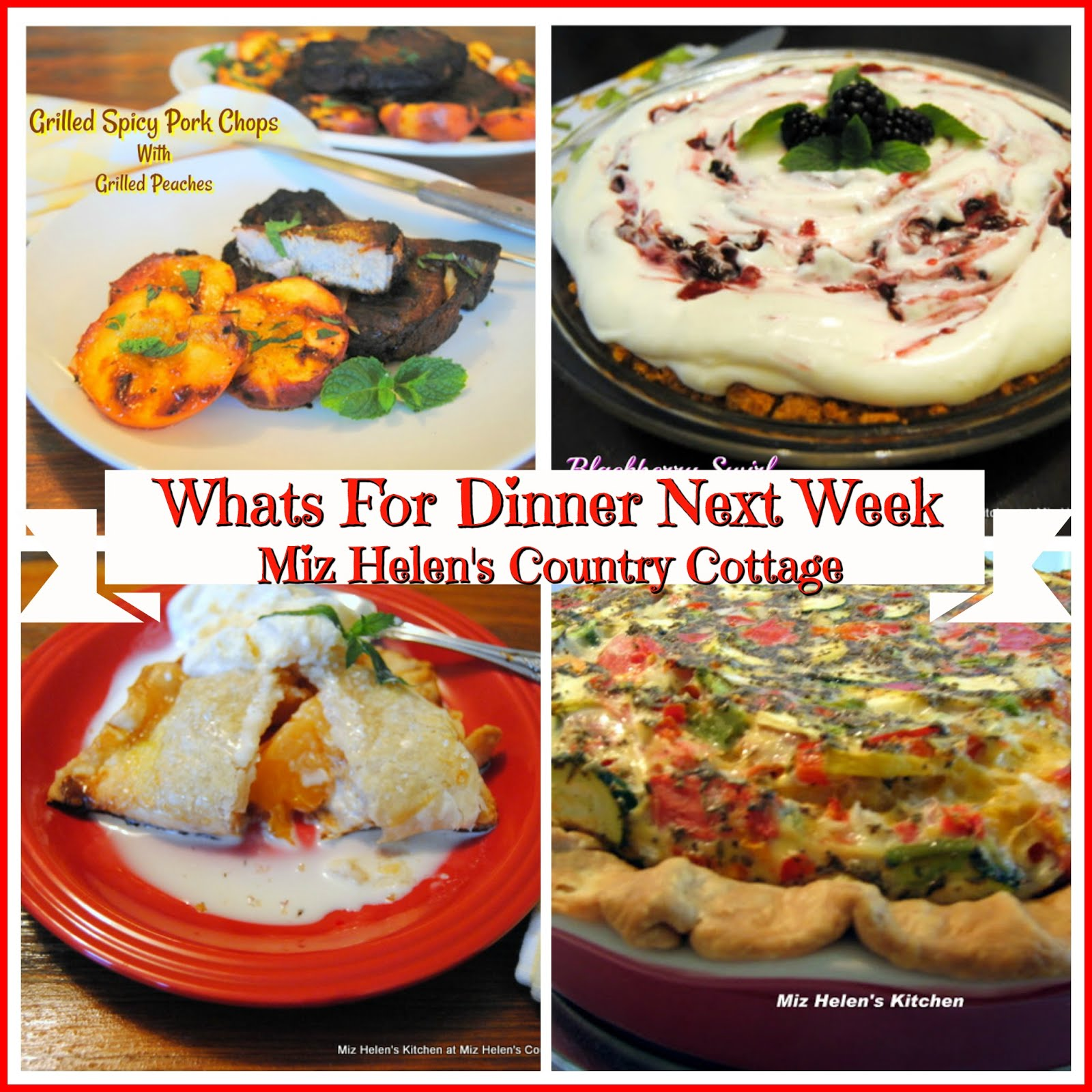 Whats For Dinner Next Week * Week of 7-21-19