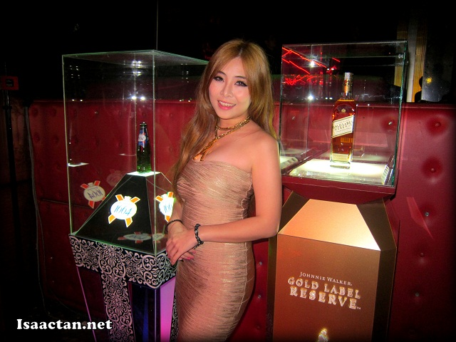 Johnnie Walker Gold Label Reserve, with the lady in theme