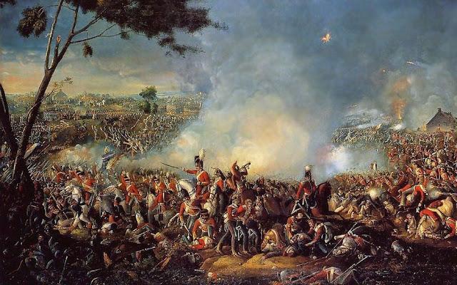 معركة واترلو بحضور الجيش البروسي والبريطاني