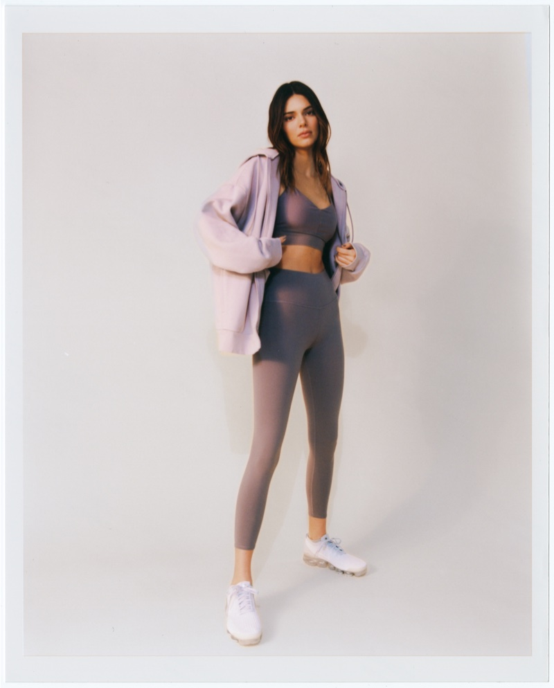 Kendall Jenner poses for Alo Yoga.