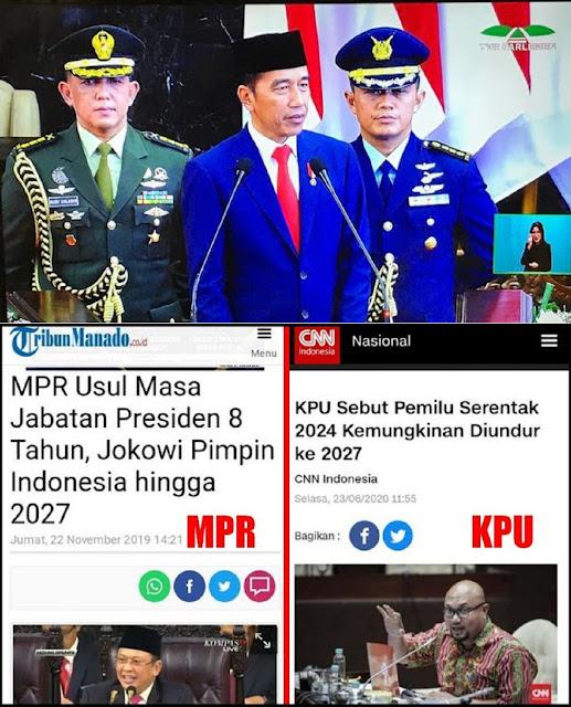 MPR dan KPU Sepakat Jokowi Lanjut Sampai 2027? Bagaimana Rakyat, Akan Diam Saja?