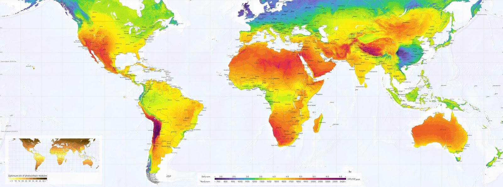 Атлас солнечной энергии