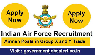 Indian Air Force Recruitment 2019 Airmen Posts in Group X and Y Trade.jpg