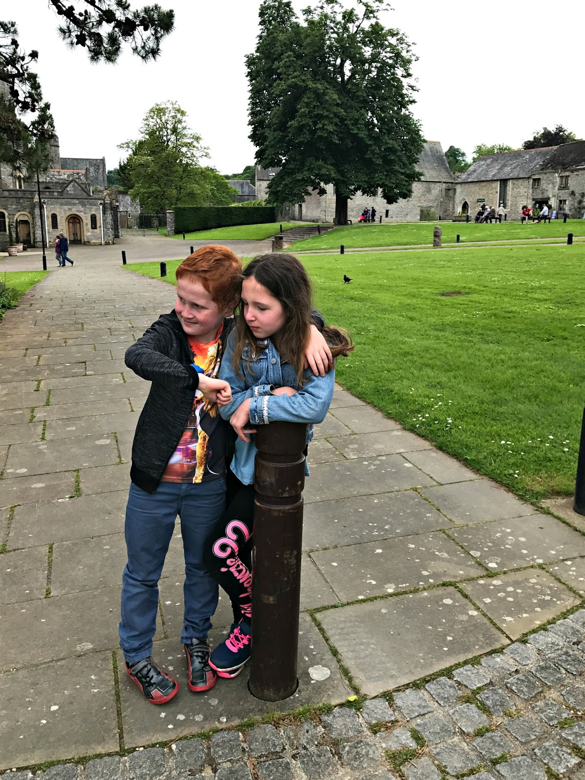 Caitlin & Ieuan consulting the dokiWatch at Buckfast Abbey, Devon