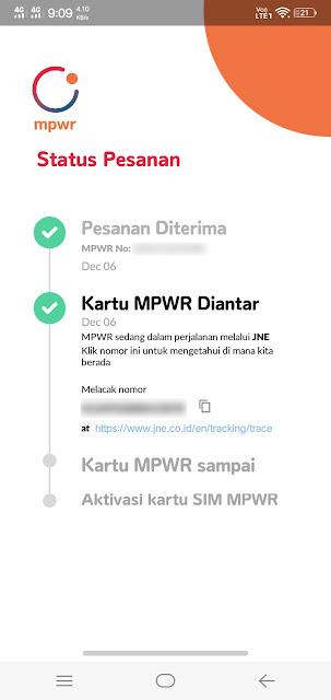 Pesan kartu MPWR