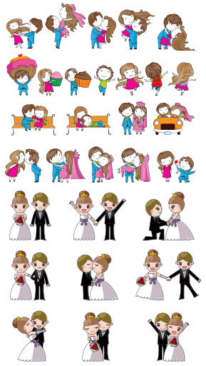Cartoon Wedding Design Elements Vector Free Download