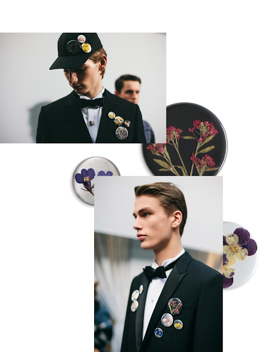 THE DRIED FLOWER BROOCHES FROM DIOR HOMME F/W 2015