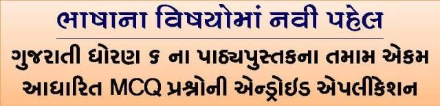 Educare+: STD 6 Gujarati MCQ Android Application
