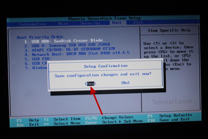 Boot priority BIOS