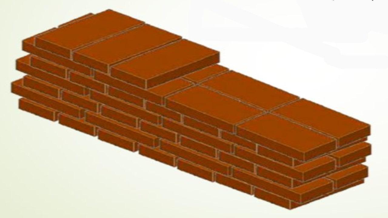 Los aparejos son las distintas maneras de disponer los ladrillos