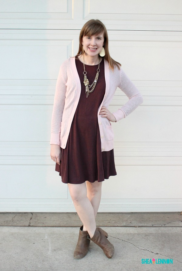 Outfit idea: burgundy with blush pink | www.shealennon.com