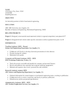 Mechanical Engineering CV