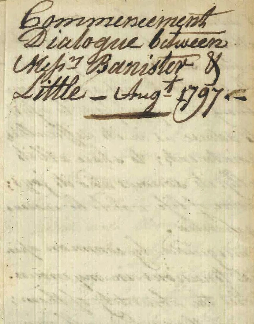 The cover page of a handwritten commencement dialogue.
