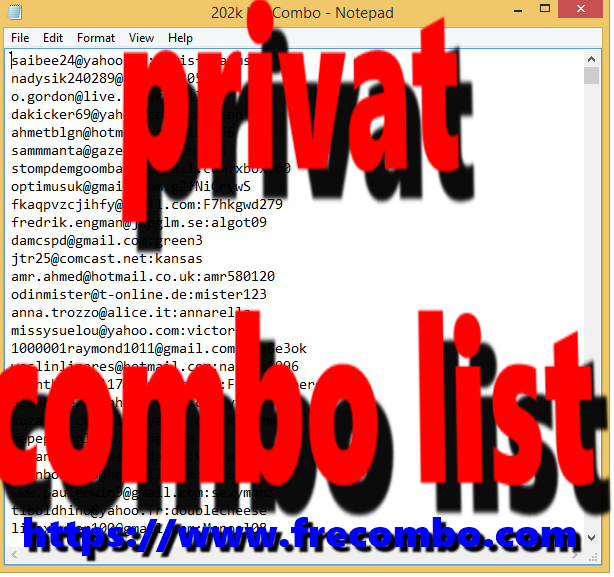 1M HQ Private Combolist (Spotify, Netflix, PSN, Origin)