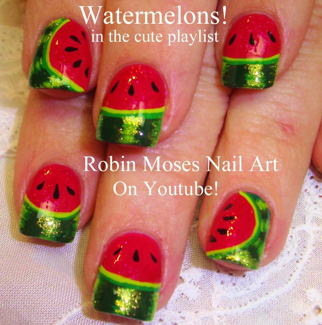 """Robin Moses Nail Art: """"watermelon nails"""" """"watermelon nail ..."""