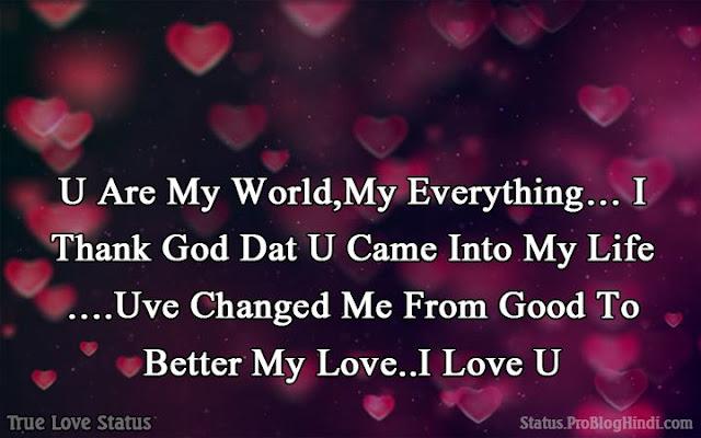 true love status for husband