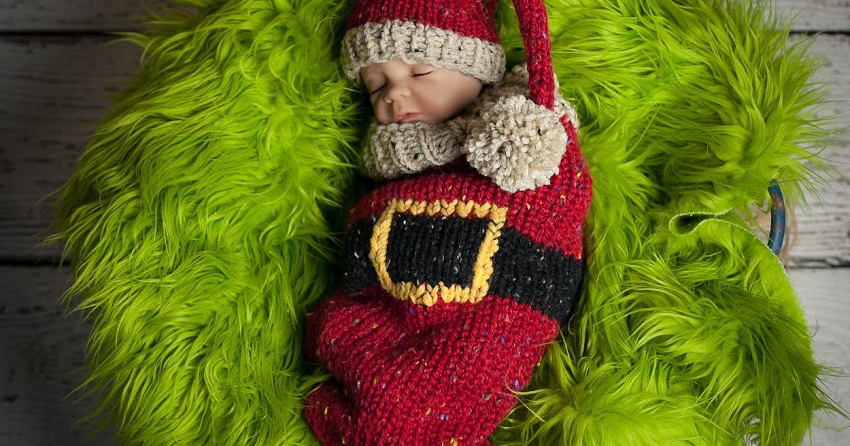 Loom Knit Santa Cocoon And Santa Hat For Newborn Loom Knitting By