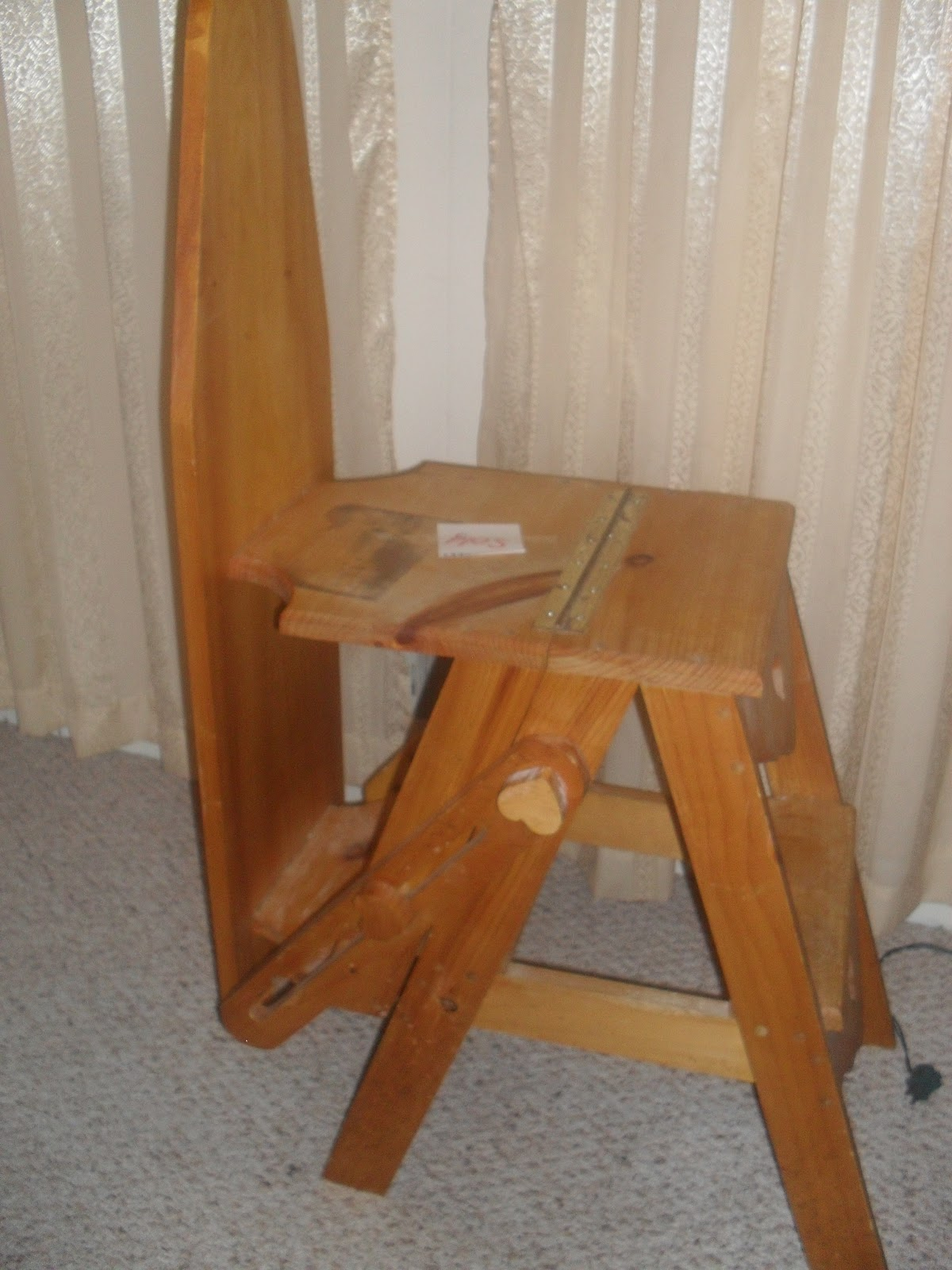 chair step stool ironing board kitchen table chairs and bench lizzi 39s blog onit bachelor dream come true