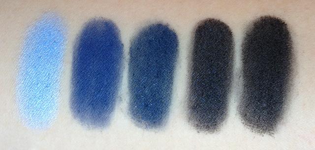 Inglot Eyeshadows - Blues and Blacks
