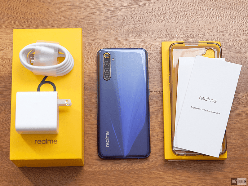 Inside the realme 6 box