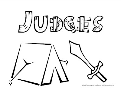 judge coloring page - sunday school lessons of plenty books of the bible