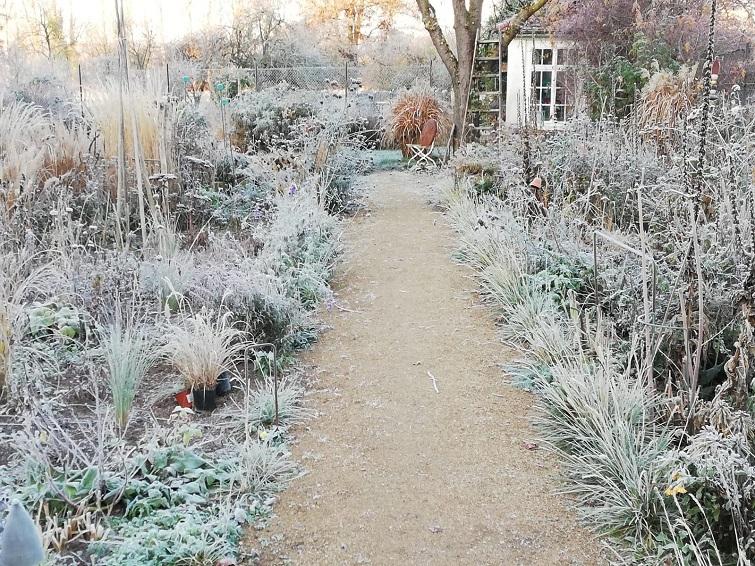Wintermärchen im ländlichen Garten