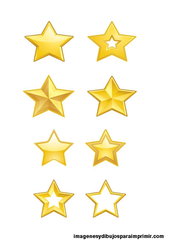 Estrellas doradas para imprimir Imagenes y dibujos para
