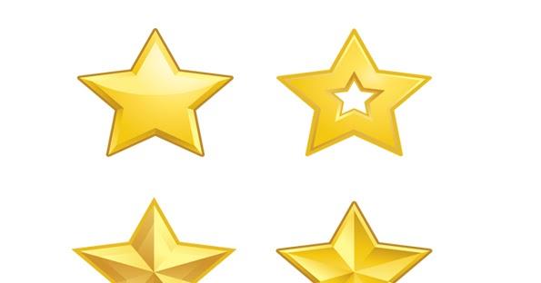 Estrellas doradas para imprimir