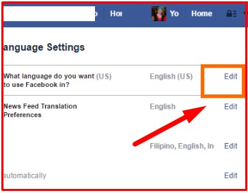 How To Change Your Language On Facebook