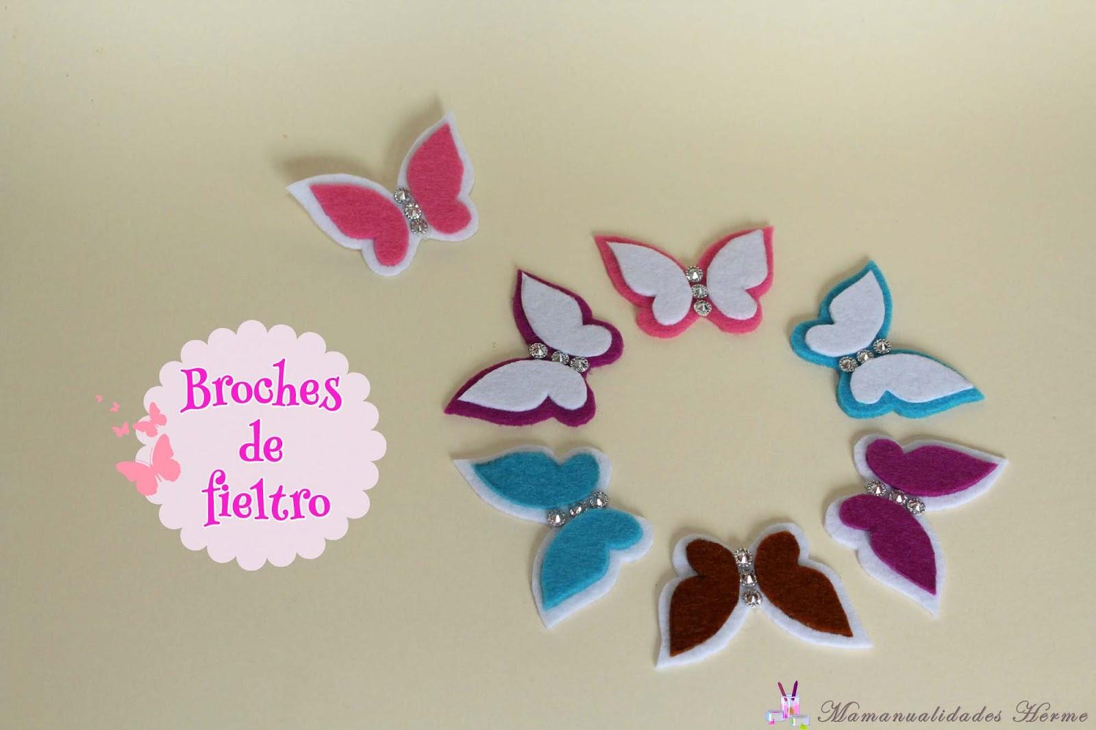 Manualidades herme como hacer broches de fieltro - Broches para manualidades ...