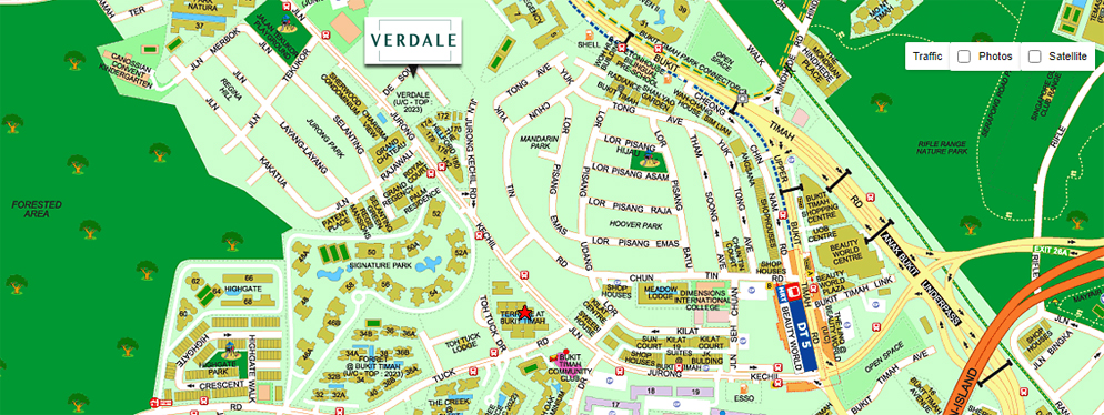 Verdale Location Map