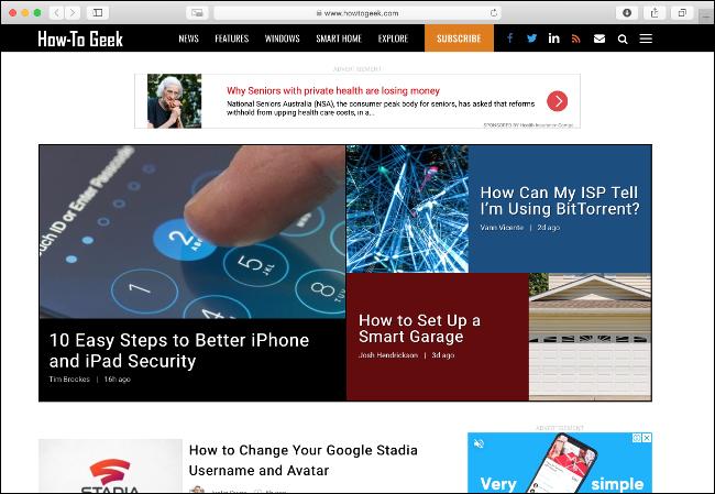 تصفح الويب باستخدام متصفح خفيف الوزن مثل Safari
