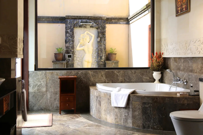 villa dengan hot tub di puncak bogor