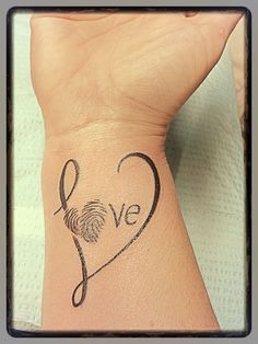 Endless Love Infinity Tattoo Designs