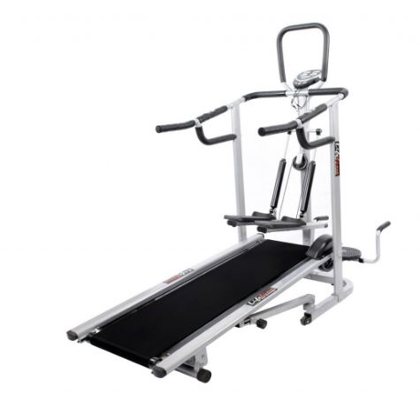 Lifeline 4 in 1 deluxe manual treadmill with twister, Stepper & 3 Level inclination