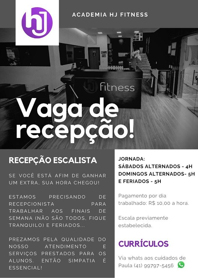 Recepcionista, Curitiba, PR
