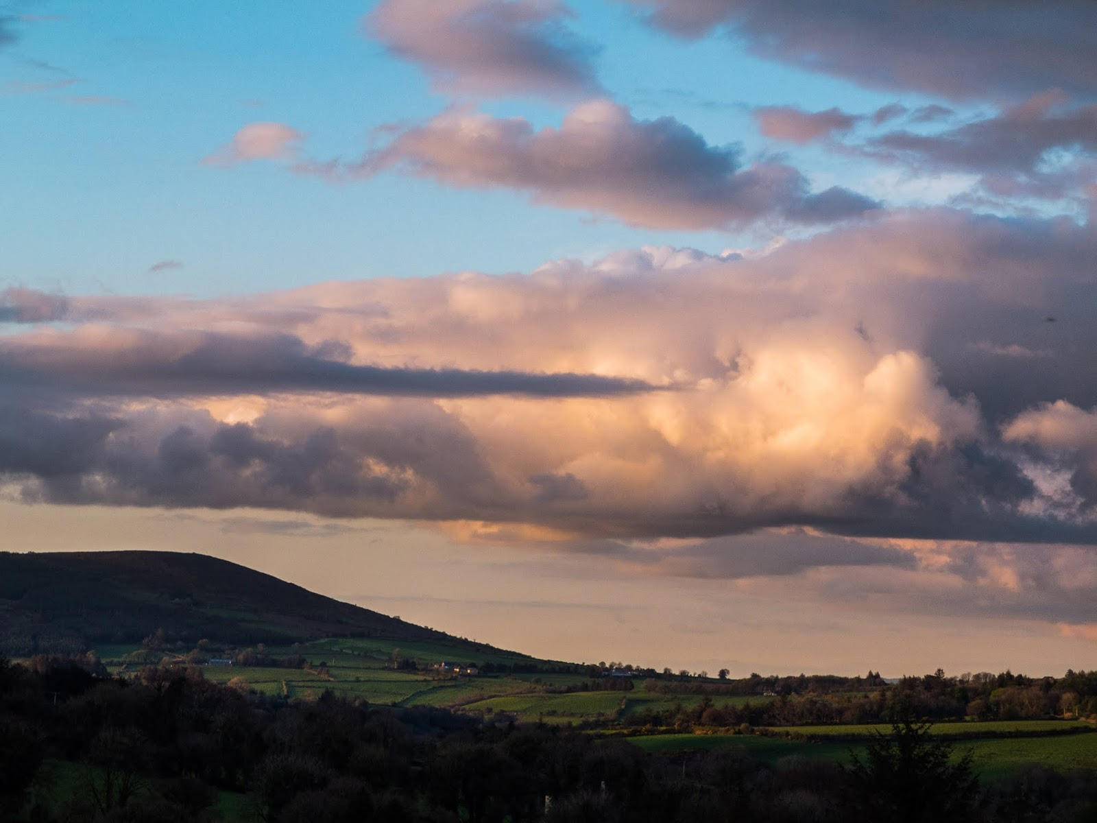 Mount Hilary in the Boggeragh Mountains, North Cork at sunset.